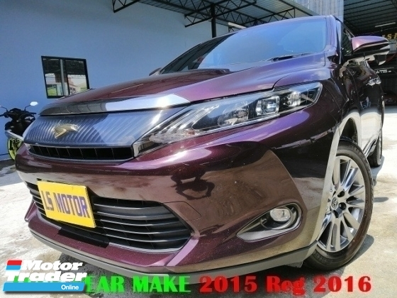 2015 TOYOTA HARRIER 2.0 PREMIUM SPEC AUTO FACELIFT - POWER BOOT - REVERSE CAMERA - 4NEW TYRE - 1LADY OWNER - ACC FREE - FULL SERVICE RECORD - PUSH START - LIKE NEW CONDITION - VIEW TO BELIEVE -