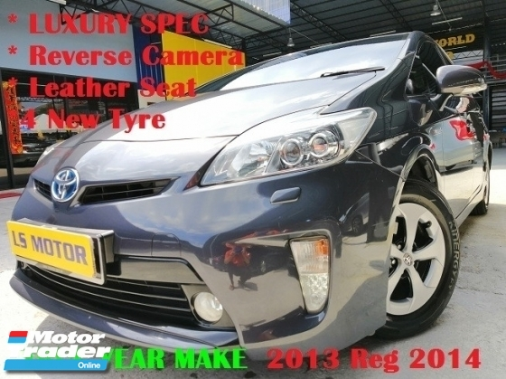 2013 TOYOTA PRIUS S PREMIUM LUXURY SPEC HYBRID - FULL SERVICE RECORD TOYOTA- HYBRID BATTERY UNDER WARRANTY - NAVI - REVERSE CAMERA - 4NEW TYRE - JBL SOUND SYSTEM - FULL LOAN - 9YRS REPAYMENT - 3.XX%...