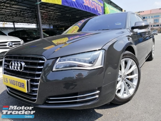 2013 AUDI A8 3.0 TFSI QUATTRO FACELIFT - CKD BRAND NEW AUDI MAL - REAR ENTERTAINMENT MONITOR - BOSE SOUND SYSTEM - MEMORY SEAT - REVERSE CAMERA - SUNROOF - NAVI - FULL LOAN -9YRS TENURE - LIKE NEW