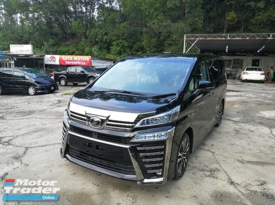 2018 TOYOTA VELLFIRE 2.5 ZG SUNROOF ( 3 LED ) UNREG 2018 ( NEW FACE LIFT )