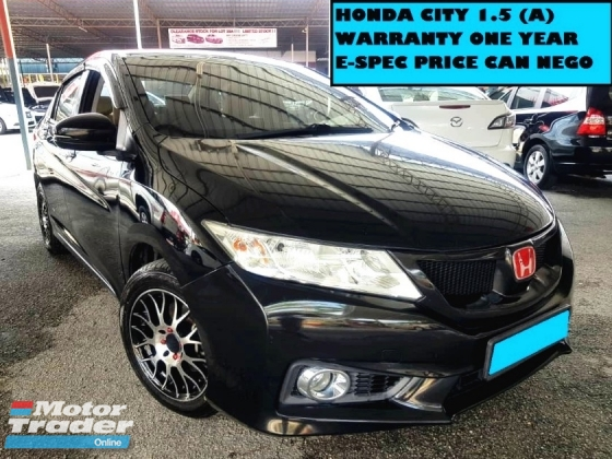 2014 HONDA CITY 1.5 (A) E SPEC V SPORT RIMS FULL LEATHER SEATS