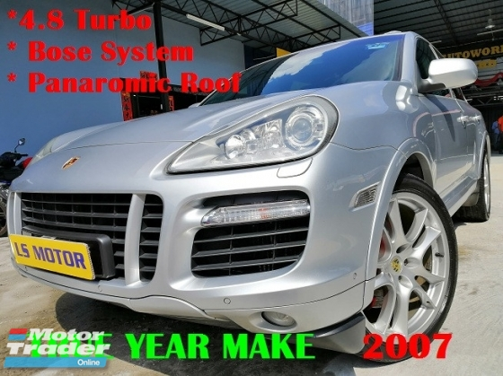 2007 PORSCHE CAYENNE CAYENNE TURBO 4.8 V8 AUTO - PANAROMIC ROOF- BOSE SOUND SYSTEM - AIR MATIC - POWER BOOT - MEMORY SEAT - ORIGINAL MILEAGE - FULL SERVICE RECORD - 4NEW TYRE - NO REPAIR NEEDED - VIEW TO BELIEVE -