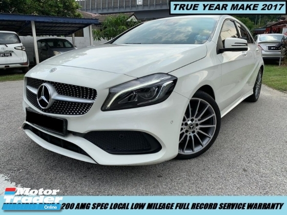 2017 MERCEDES-BENZ A-CLASS A200 AMG TURBO HIGH SPEC PADDLESHIFT LOCAL LOW MILEAGE FULL RECORD UNDER WARRANTY