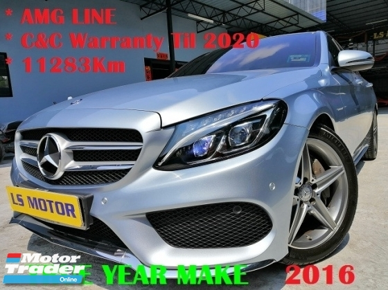 2016 MERCEDES-BENZ C-CLASS C250 AMG SPORT LINE - BRAND NEW C&C - FULL SERVICE RECORD C&C 11K KM DONE ONLY- 99.99% NEW CAR CONDITION - NAVI - POWER BOOT -PANAROMIC ROOF - BURMESTER SURROUND SOUND SYS -