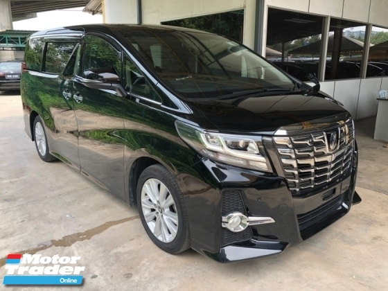2015 TOYOTA ALPHARD 2.5 SA Edition 4 Surround Camera 7 Seat Automatic Power Boot 2 Power Door Intelligent LED Smart Entry Push Start 3 Zone Climate Control Auto Cruise Control 9 Air Bag Unreg