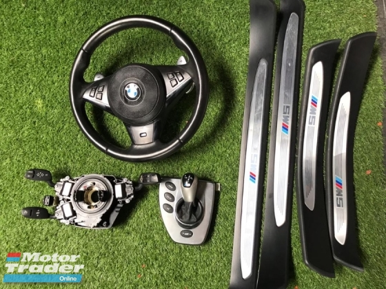 Bmw e60 M5 steering with slip ring side step M5 gear knob Original  Exterior & Body Parts