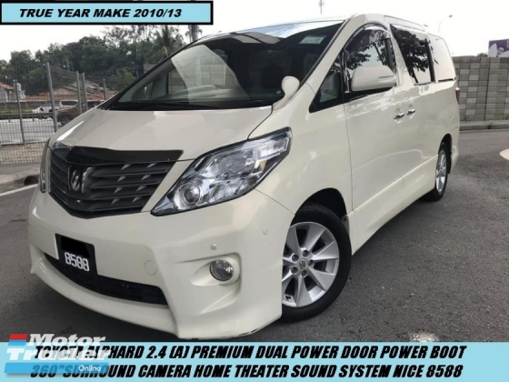 2010 TOYOTA ALPHARD 2.4 PREMIUM DUAL POWER DOOR POWER BOOT SURROUND CAMERA NICE PLATE 8588