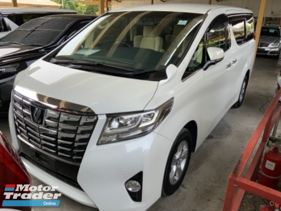 2015 TOYOTA ALPHARD 2.5 X 8 seaters 4 camera power boot push start keyless entry 2 power doors unregistered