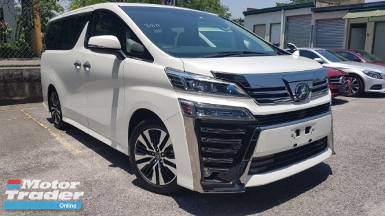 2018 TOYOTA VELLFIRE 2018 Toyota Vellfire 2.5 ZG New Facelift Sun Roof 3 LED Full Leather Pilot Seat Unregister for sale