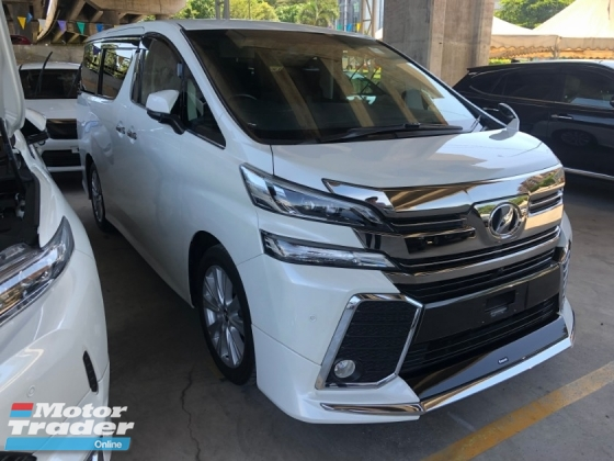 2015 TOYOTA VELLFIRE 2.5 ZA Edition 360 View Surround Camera 7 Seat Automatic Power Boot 2 Power Door Intelligent LED Smart Entry Push Start 3 Zone Climate Control Auto Cruise Control 9 Air Bag Unreg