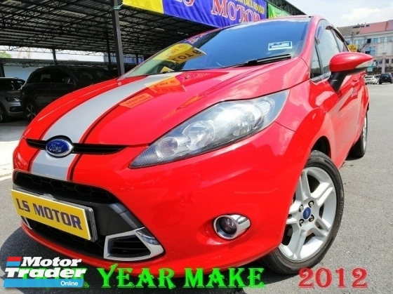 2012 FORD FIESTA 1.6L SPORT AUTO - TRUE YEAR MADE 2012 -1LADY OWNER - ACC FREE - FULL SERVICE RECORD FORD- ORIGINAL MILEAGE - 4NEW TYRE - LIKE NEW - VIEW TO BELIEVE -