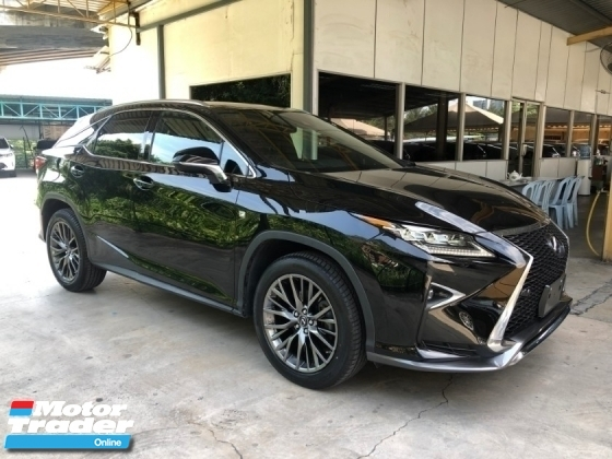 2016 LEXUS RX RX200t F Sport 2.0 Turbocharged 4WD Panoramic Roof Pre Crash Head Up Display Running LED Intelligent Multi Function Paddle Shift Steering Smart Entry Zone Climate Control Unreg