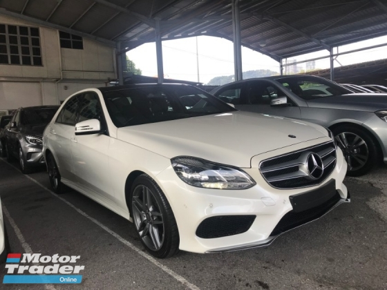 2014 MERCEDES-BENZ E-CLASS E200 2.0 AMG 7G ACTUAL YR 2014 FULL SPEC PANORAMIC ROOF 18 RIMS