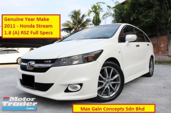 2011 HONDA STREAM 1.8 RSX (A) New Facelift (Ori Year Make 2011)(Low Mileage)(7 Seaters)