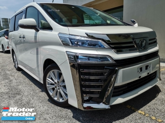 2018 TOYOTA VELLFIRE 2.5ZA NFL Pre Crash Sunroof Unreg Sale Offer