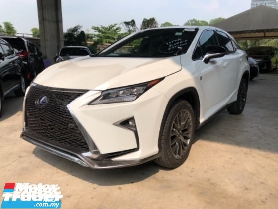 2016 LEXUS RX Unreg Lexus RX200T 2.0 Turbo Camera F Sport Paddle Shift 6Speed