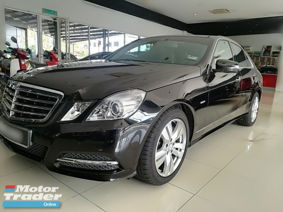 2012 MERCEDES-BENZ E-CLASS E250 BLUE EFFICIENCY CGI 7G AVANT-GARDE PANROOF LOCAL SPEC