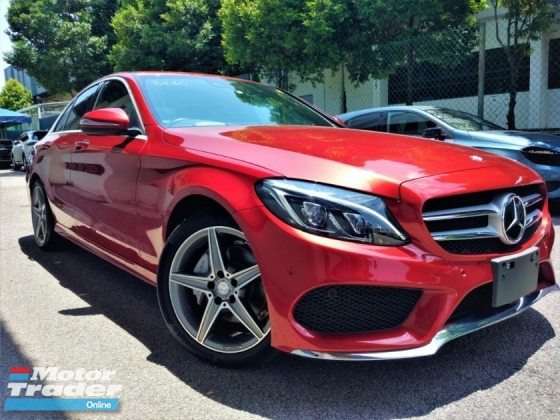 2014 MERCEDES-BENZ C-CLASS 2014 Mercedes C200 AMG Power Boot Head Up Display Full Leather Blind Spot LKA Unregiser for sale