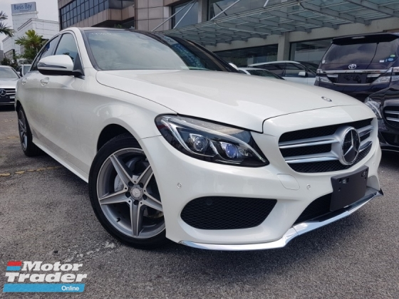 2014 MERCEDES-BENZ C-CLASS 2014 Mercedes C200 AMG Panaromic Roof Power Boot Head Up Display Full Leather Blind Spot Radar LKA Unregister for sale