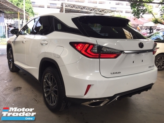 2017 LEXUS RX 200t 2.0 TURBO F-SPORT - JAPAN RECON UNREGISTERED