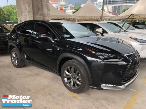 2017 LEXUS NX NX200t F Sport 2.0 Turbocharged 235hp Pre Crash Head Up Interface Memory Bucket Seat Smart Entry Automatic Power Boot Multi Function Paddle Shift Steering Auto Hold Start Stop Engine Intelligent LED Bluetooth Unreg