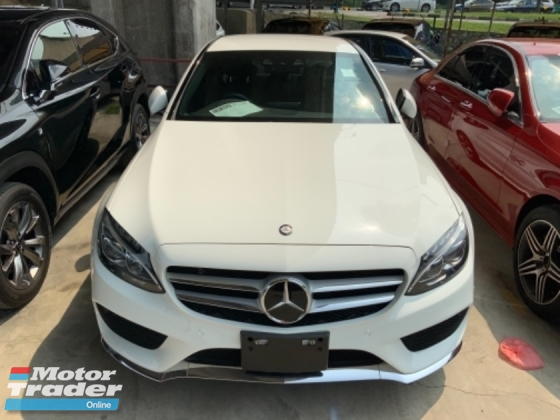 2014 MERCEDES-BENZ C-CLASS C200 AMG sport package Japan spec memory seat led headlamp unregistered