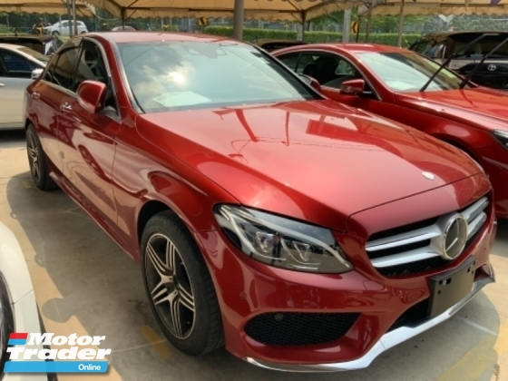 2015 MERCEDES-BENZ C-CLASS C200 AMG sport package memory seat Japan spec led headlamp unregistered