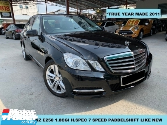 2011 MERCEDES-BENZ E-CLASS E250 CGI BLUE EFFICIENCY 1.8(A) HIGH SPEC 7 SPEED PADDELSHIFT LIIKE NEW