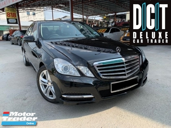 2011 MERCEDES-BENZ E-CLASS E250 CGI AVANTGARDE (7G-TRONIC) FACELIFT MODEL LIMITED BLACK EDITION INTERIOR ONE MALAY OWNER