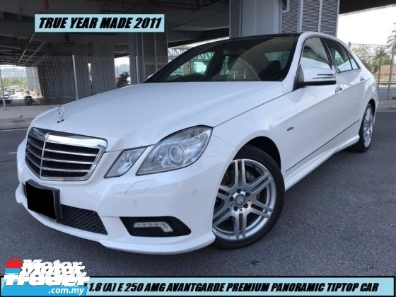 2011 MERCEDES-BENZ E-CLASS E250 CGI AMG LOW MILEAGE ONE LADY OWNER