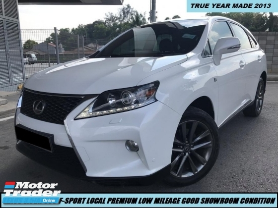 2013 LEXUS RX350  3.5 F-SPORT LOCAL NICE PLATE 32 LIKE NEW CAR  1 OWNER VVIP TIPTOP CONDITION
