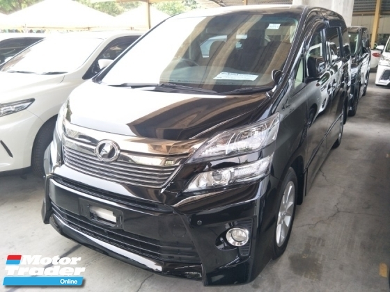 2014 TOYOTA VELLFIRE 2.4 Z SPEC POWER DOOR DVD PLAYER WITH REAR MONITOR 17 SPORT RIM FREE WARRANTY