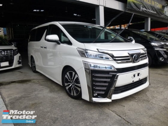 2018 TOYOTA VELLFIRE ZG NEW FACELIFT. GENUINE MILEAGE. HIGHEST GRADE CAR. PROVIDE WARRANTY. TOYOTA ALPHARD HONDA MAZDA