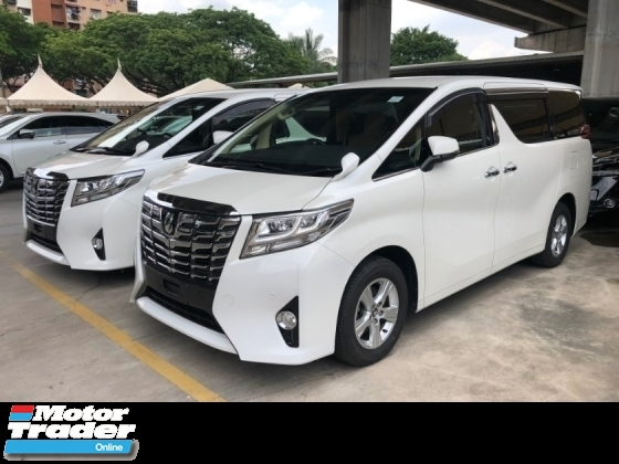 2015 TOYOTA ALPHARD 2.5 2AR-FE 360 Surround Camera Automatic Power Boot 2 Power Door Intelligent Full-LED Smart Entry Push Start 3 Zone Climate Control 9 Air Bags Unreg