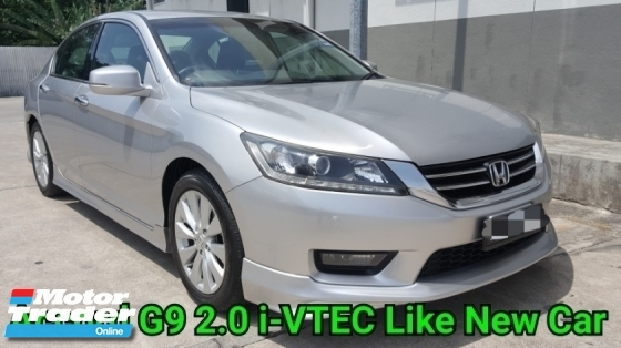 2015 HONDA ACCORD G9 2.0 VTI-L Ori 61K Km Mileage Excellent Condition No Accident Record No Repair Need Worth Buy