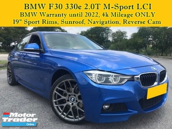 2017 BMW 3 SERIES F30 330e 2.0 T (A) LCI M Sport Under BMW Warranty  4k Mileage