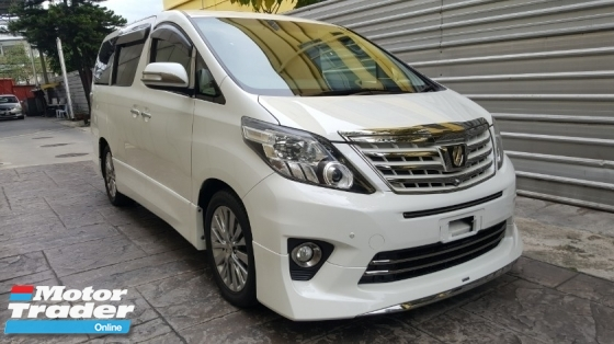 2014 TOYOTA ALPHARD 2.4 S TYPE GOLD FULLY LOADED SURROUND CAMERA ROOF MONITOR HOME THEATER SUNROOF (A) OFFER UNREG