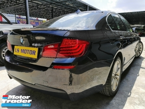 2014 BMW 5 SERIES 520I F10 2.0 AUTO M SPORT - TWIN POWER TURBO ENGINE - FULL LEATHER -CKD INGRESS AUTO - FULL SERVICE RECORD - POWER BOOT - MEMORY SEAT - 4 NEW TYRE - PADDLE SHIFT - LIKE NEW - VIEW TO BELIEVE -