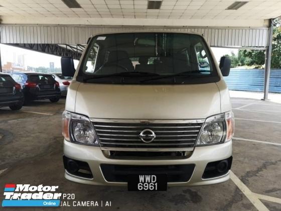 2011 NISSAN URVAN 3.0 (M) Microbus