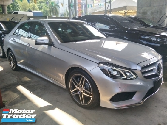 2014 MERCEDES-BENZ E-CLASS 2.0 AMG JAPAN SPEC 2 MEMORY BUCKET SEMI LEATHER SEATS REVERSE CAMERA PUSH START AUTO CRUISE