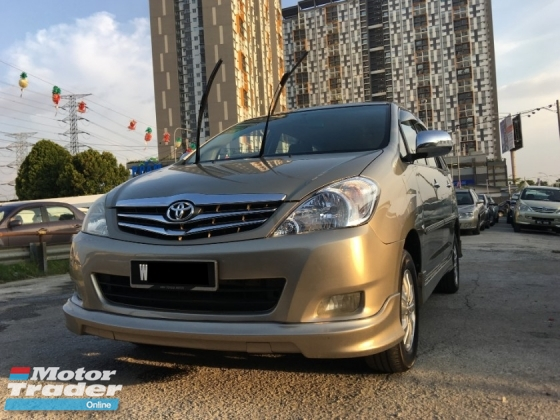 2010 TOYOTA INNOVA 2.0 G (A) SPECIAL PROMOTION ** G SPEC ** EXCELLENT CONDITION **