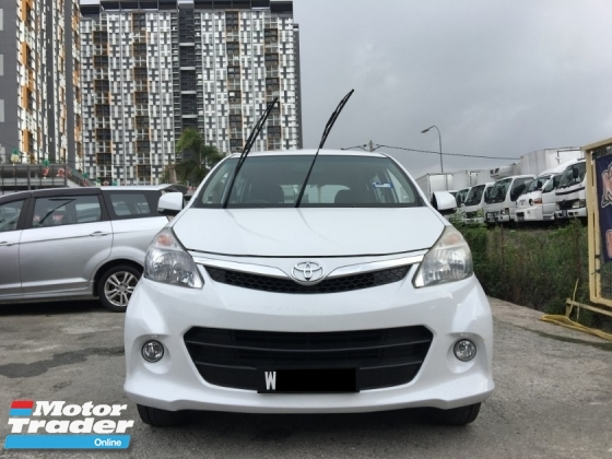 2012 TOYOTA AVANZA 1.5G (A) CCRIS AKPK CAN LOAN ** BLACKLIST SAA CAN LOAN ** HIGH LOAN AVAILABLE **