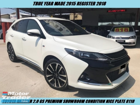 2015 TOYOTA HARRIER GS Full Spec One Owner Nice Couple Plate 8118