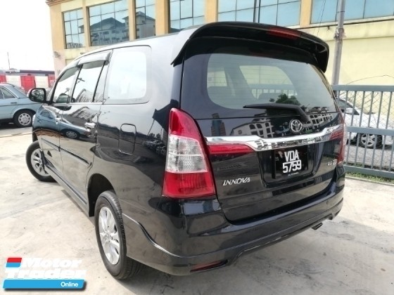 2014 TOYOTA INNOVA 2.0G (A) TOYOTA FULL SERVICE RECORD NEW FACELIFT