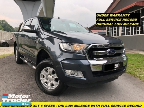 2017 FORD RANGER 2.2XLT 6 SPEED UNDER WARRANTY FULL SERVICE RECORD ORIGINAL LOW MILEAGE