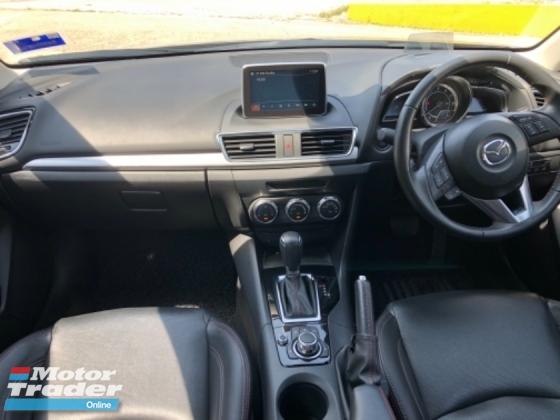 2016 MAZDA 3 2.0 Sedan GLS, Full Spec, Leather Seat, HUD, RVM, 1 Owner, Call Now