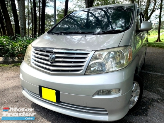2003 TOYOTA ALPHARD 2.4G (A) MPV P/DOOR 7 SEAT 1 OWNER