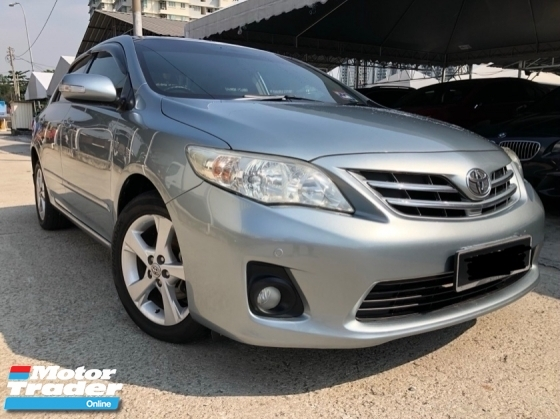2012 TOYOTA COROLLA ALTIS 1.8 E (A) Facelift,One Owner,Accident Free,Low Mileage