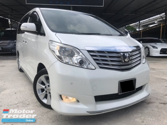 2010 TOYOTA ALPHARD 2.4 G 7 SEATER, 2 POWER DOOR, FULL BODYKIT, SUNROOF, ELECTRIC SEAT, MEMORY SEAT, LIKE NEW CONDITION, DEAL SAMPAI JADI