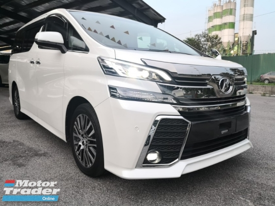 2016 TOYOTA VELLFIRE 2.5 ZG Edition = RAYA SALES = CHEAPEST IN TOWN =
